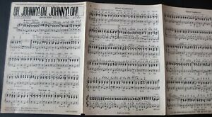 THE MERRY OLD LAND OF OZ & OH JOHNNY OH! PIANO CONDUCTOR SHEET MUSIC (1939)