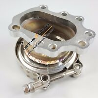 """T25 T28 GT25 GT28 8 Bolt to 3.0"""" V Band Clamp Conversion Flange Adapter Kit 304"""