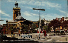 Northhampton Color AK ~1960/70 Straßenpartie All Saints Church and War Memorial