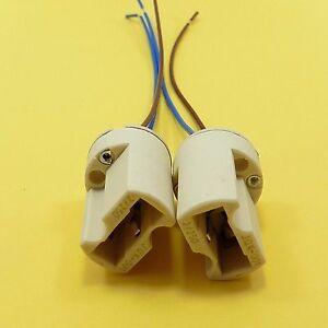 G9 Lamp Holder Socket Ceramic Base With Cable Halogen LED Bulb Down Light