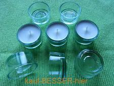 10 x Teelichthalter - Teelichtgläser - Teelichtglas Klar Glas Teelicht Kerze