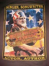 Willie Nelson Singer Songwriter Actor Author Family Live In Concert 2009 T-shirt