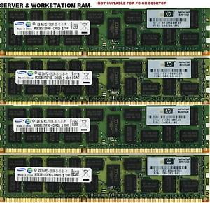 Memory Ram 4 Server DDR3 PC3 10600R 1333MHz 240pin RDIMM ECC Registered 2x Lot