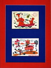 YOGI BEAR QUICK DRAW McGRAW 2 Window PRINT PROFESSIONALLY MATTED Hanna Barbera