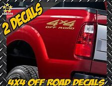 4x4 Truck Bed Decal Set METALLIC GOLD for Ford Super Duty F-250, F-150, Ranger