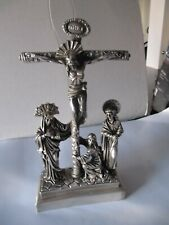 Antique 999 Silver Christ Crucified 19th Century From a Calvary Group European