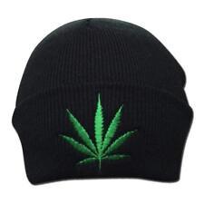 Weed Leaf Marijuana Hemp Kush Cannabis Stoner Drug 420 Winter Beanie Hat