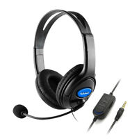 Wired Gaming Headset Headphones with Rotatable Mic for PS4 Xbox One PC