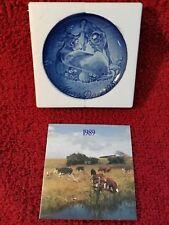 Bing grondahl 1989 Cow Calf Mothers Day Plate Nib