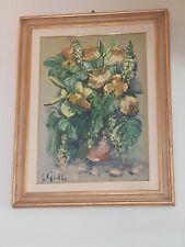 Quadro dipinto ad olio Emanuele Cappello (Oil painting - Flowers)