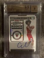 2019-20 Panini Contenders Rookie Ticket Stub Coby White Autograph RC 1/1 BGS 9.5