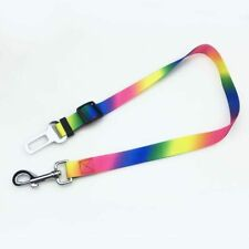 Adjustable Dog Safety Seat Belt Restraint For Car Lock Pet Lead MULTI COLOURED!