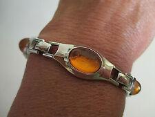 Schönes Armband mit Bernstein - echt Silber 835 - 19 cm lang