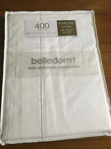 Belledorm Egyptian Cotton Sateen Double Flat Sheet 400 Thread Count. BRAND NEW