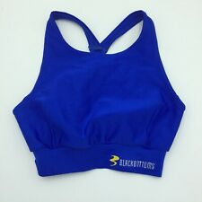 BlackBottoms Small Cycling Bra Bicycling Blue Racerback Sports Banded A17