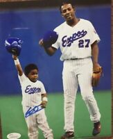 Toronto Blue Jays Vlad Guerrero Jr. With His Father Autographed Photo JSA 8 X 10