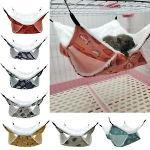 Rabbit Hammock Warm Sleeper 2-Layer Bed Cage Accessories for Suger Glider Bunny