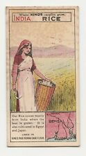 Trade Card Kings Specialities Where Kings Supplies Grow - India - Rice
