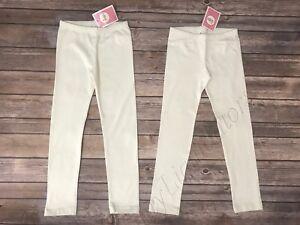 Set of 2 Circo leggings Almond Cream off white bottoms New Size 6X Girls Kids