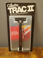 1971 New Gillette Trac ll Razor w/ 2 Cartridges - Made in USA