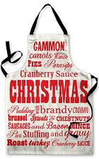 Navidad Tipografía Diseño Delantal Cocina Barbacoa de Pintura Gran Idea Regalo