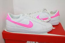 Women's Nike Tennis Classic Casual Shoes, White/ Pink - Size US 10