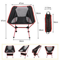 Lightweight Portable Folding Foldable Camping Chair Outdoor Hiking Backpacking