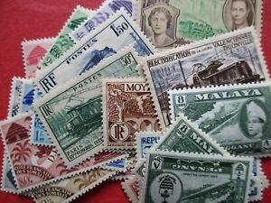 Selection of Railroad Train Railway Interest Stamps MM Inc Malaya, France etc