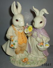 Lenox Easter Parade Mr & Mrs Bunny Rabbit new in box $126
