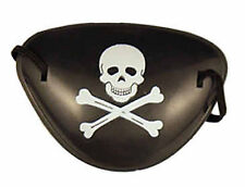 Pirate Eye Patch Fancy Dress Black Skull and Crossbones