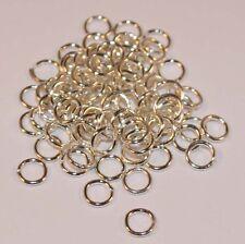 100 Boucle Plaqué Argent Anneaux 4 mm x 0,7 mm fabrication de bijoux