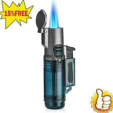HONEST Three Torch Blue Flame Butane Gas Lighter Windproof Cigarette Cigar -Hot