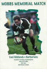 More details for east midlands v barbarians 29 mar 2000 rugby programme