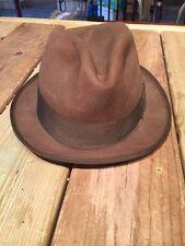 Vintage Beaver Brand Hats 100% Fur Felt Mens Unisex Fedora Hat