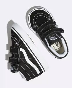 TODDLER SK8-MID REISSUE V BLACK AND WHITE VANS ORIGINAL