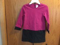 Girls Gymboree Pink Brown Dress Size 5