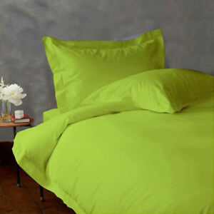 NEW 1000 TC EGYPTIAN COTTON BEDDING COLLECTION 3 PCs DUVET COVER IN PARROT GREEN