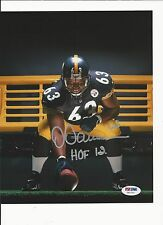 DERMONTTI DAWSON HAND SIGNED PITTSBURGH STEELERS 8X10 PSA/DNA COA Z41713