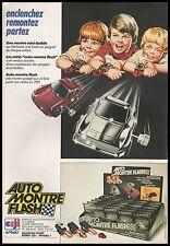 Publicité circuit automobile AUTO MONTRE FLASH  jeu vintage CEJI  ad  1981