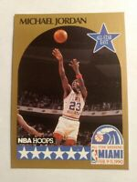 Michael Jordan, all stars east, 1990 nba hoops gold card  #5