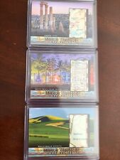 2019 UD Goodwin Champions MAP RELICS LOT X3- WALLA WALLA/AMMAN/SOUTH BEACH MIAMI