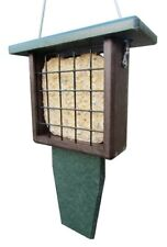 Jcs Wildlife Green and Brown Recycled Single Suet Feeder w/ Tail Prop