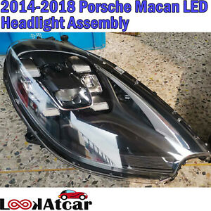 2018 Porsche Macan LED Headlight Assembly 2014 2015 2016 2017 OEM Used One Pair