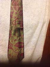 AKM Men's 100% Silk Neck Tie Fruit & Leaf Design~Made In USA