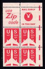 U.S. Mint NH Bklt Pane - 11c Silhoutte Jet + 2 labels - C78a, Rare Miscut ERROR