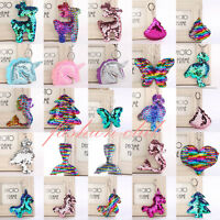 SEQUIN Mermaid Keychain Keyring Handbag Bag Charm Girls Xmas Stocking Party Gift