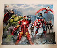 Marvel Fine Art-Defenders-Signed by Stan Lee Giclee on Paper-Avengers
