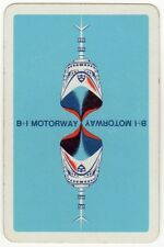 Playing Cards 1 Swap Card - Vintage B+I MOTORWAY Shipping Line to Ireland SHIP
