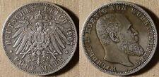 Germany States : Wuerttemberg 1907F 5 Mk   XF-/XF+  # 632  IR2328