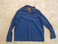Koppen Sweatshirt Mens Size Large 1/4 Zip Pullover Sweater Athletic Fleece Blue